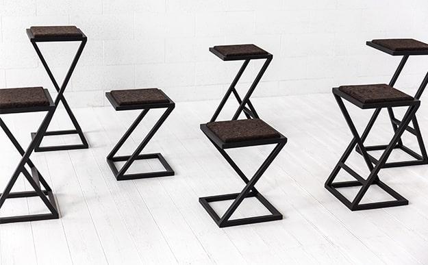 Kėdės suoliukai ir pufai