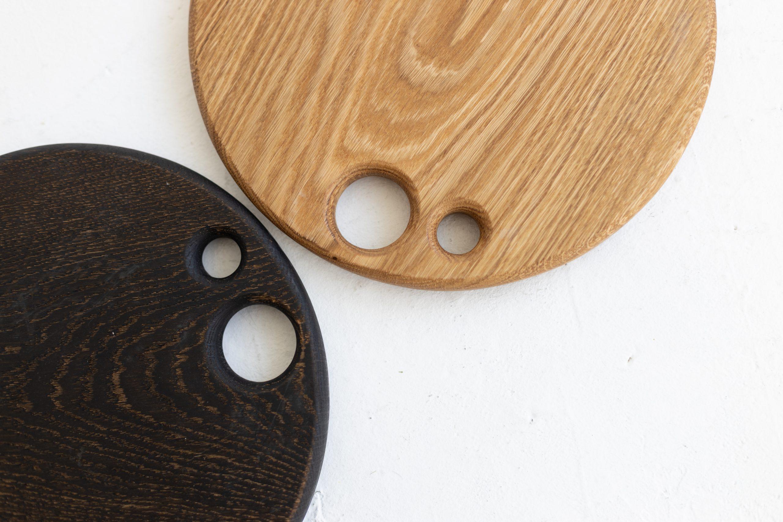 GIRIA medinė pjaustymo lentelė, apvali