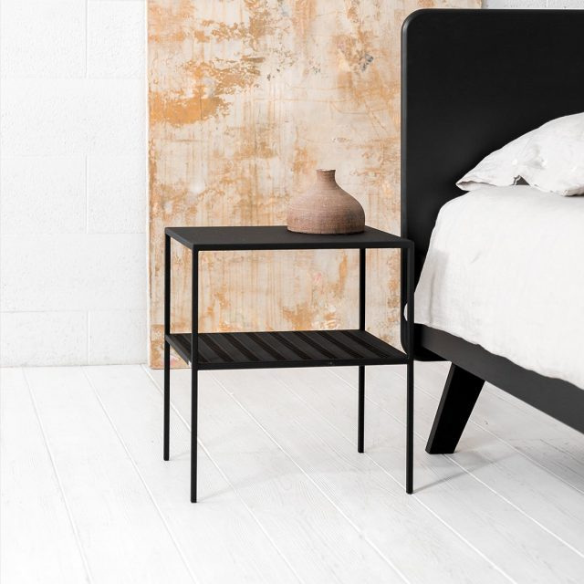 🖤 PINECONE - A steel bedside table is the best thing you can have in your bedroom. It has a perfect pine cone texture, looks modern and minimalist, but it is strong and durable. ❄️ ❄️ #bedroom #bedsidetable #bedroomtable #moderntables #furnitureidea #furniture #furniture4home #furniture #madeinLithuaniafurniture #PagamintiLietuvojebaldai #baldai #baldainamams #modernusbaldai #furnitureshop #furniture4life #furniturephoto