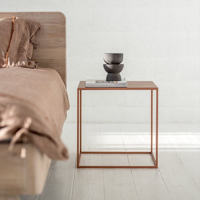Many say that simplicity is fascinating. We agree with this saying and follow it. Simple and refined shapes, clear and simple design. Expressive color. That is what the copper cube table is like. Simple, but at the same time bright and bold. Finally, it needs the right space, a bright personality. CUBUS COPPER table today on our podium. Copper color. Thin metal profile legs, table top also in metal. Extremely light, but stable and durable. 👁 👁 #table #coopertable #stylishtable #coopercolor #cooper4life #cooperfurniture #furniture #baldai #furniture4home #madeinLithuania
